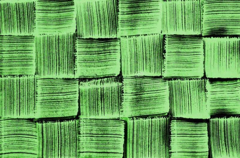 Woven pattern green brush texture royalty free illustration