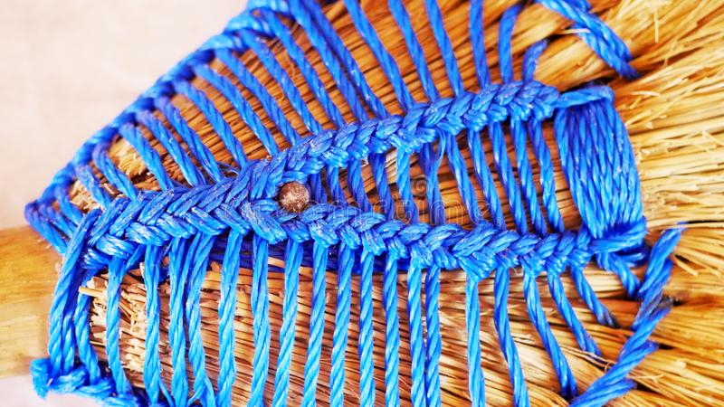 Knitting pattern of yarn stock photography