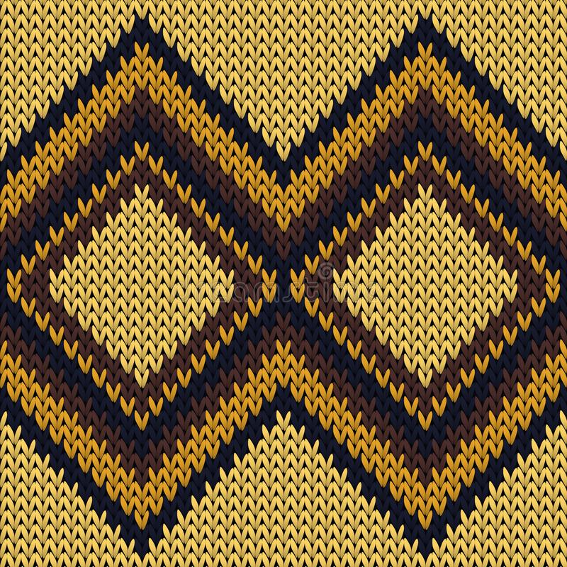 Woven rhombus argyle kerst breekt geometrisch stock illustratie