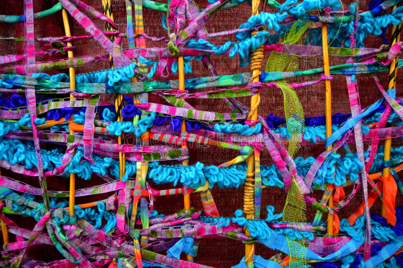 Woven Ribbon Background stock image