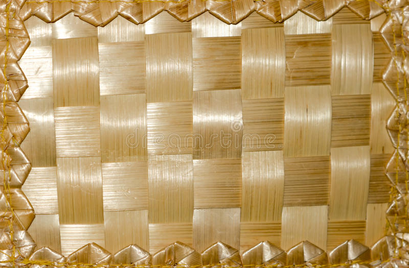 Woven straw . stock images