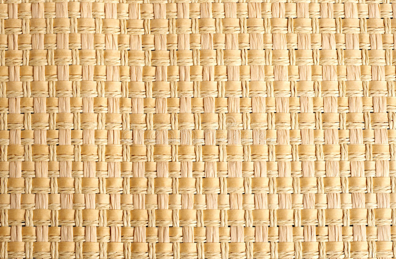 Woven Straw Placemat As Background Stock Photos