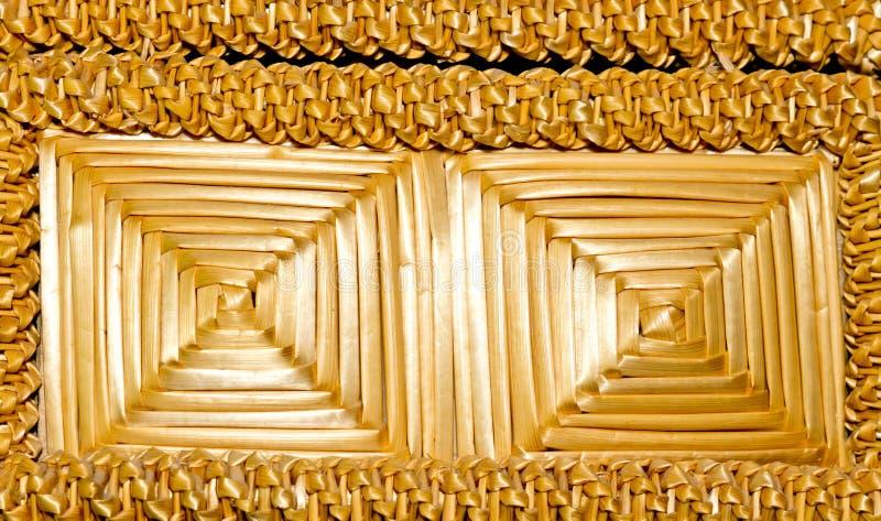 Woven straw . royalty free stock photos