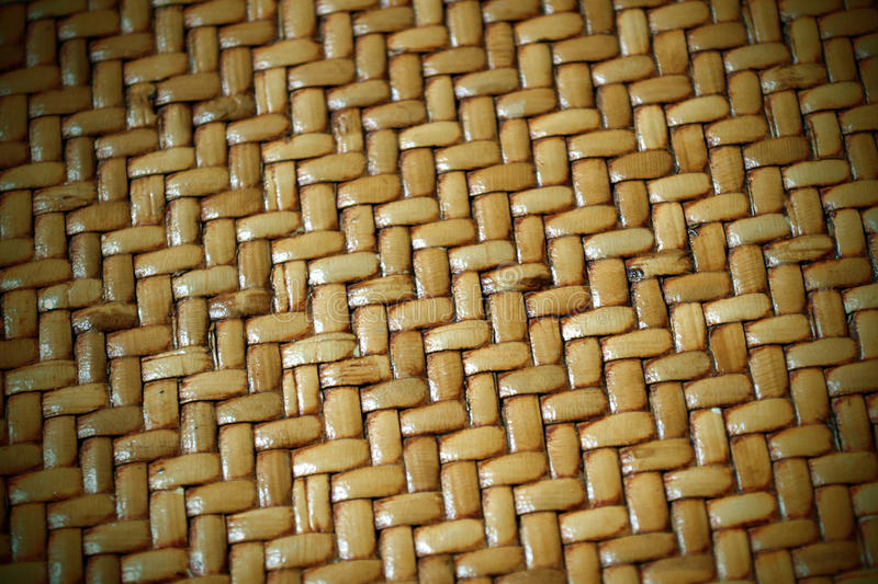 Woven Thatch Background Pattern. A woven thatch mat to use for a background pattern or texture royalty free stock images