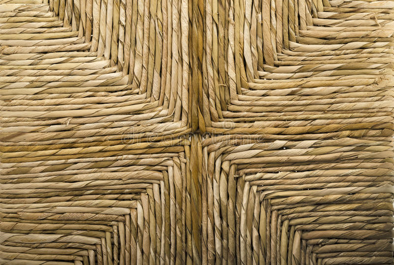 Woven Wicker Basket Chair Royalty Free Stock Image