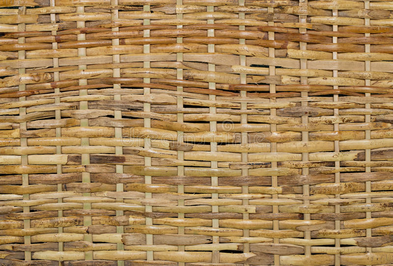 Woven wood wicker background. Woven wood wicker fence panel suitable for crafts, picnic or gardening background or wallpaper royalty free stock image