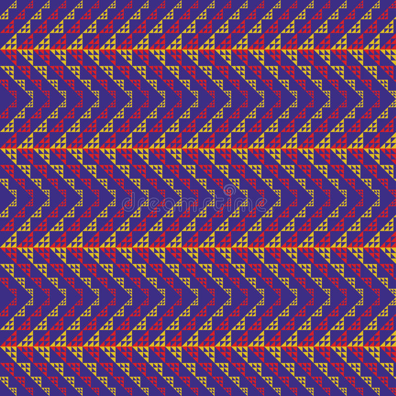 Woven Zig Zag Pattern royalty free illustration