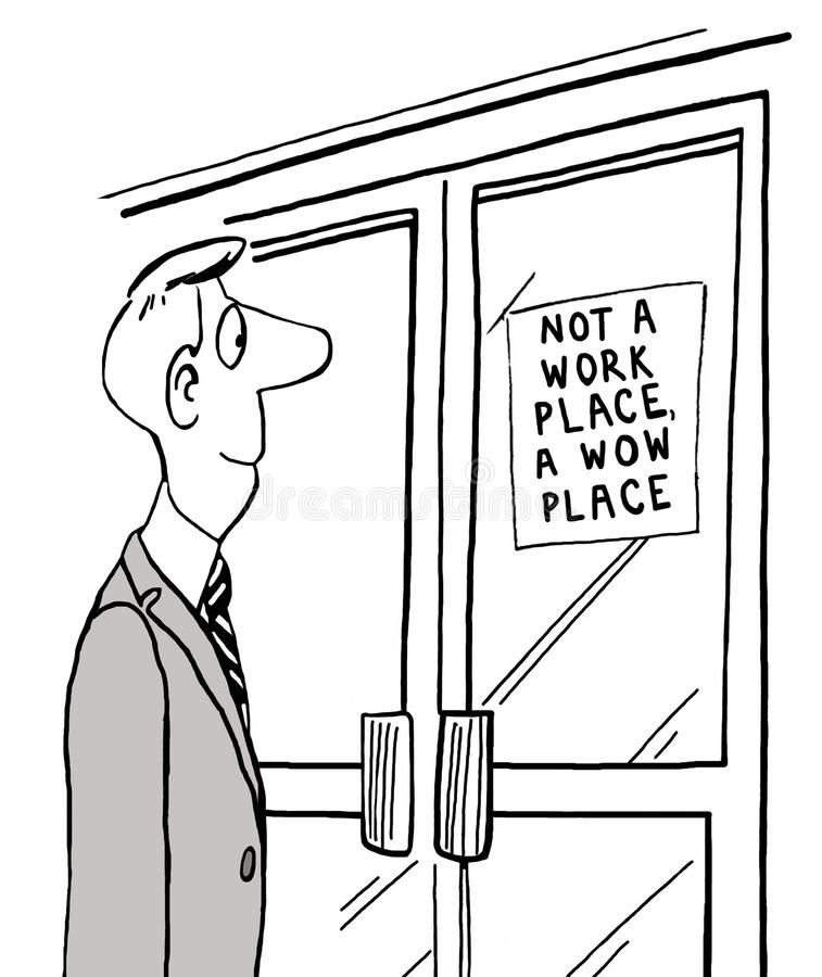 WOW θέση στην εργασία απεικόνιση αποθεμάτων
