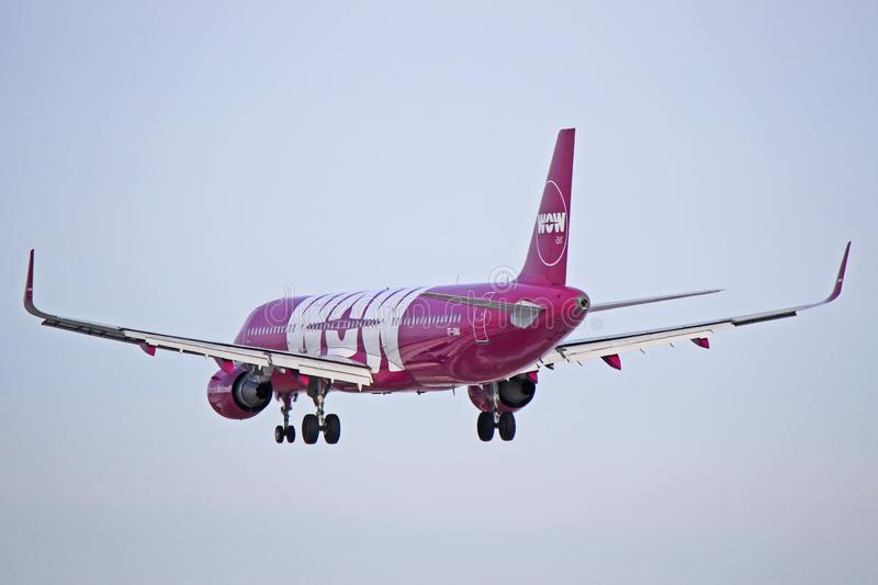 WOW air Airbus A321-200 Rear View royalty free stock photography