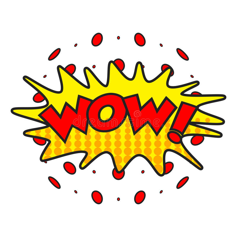 Wow comic sound effects. royalty free illustration