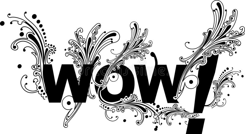 Download Wow Curves Text stock vector. Image of abstract, pattern - 5927403