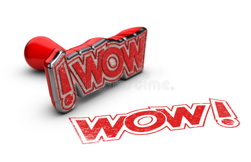 WOW, Exclamation Concept royalty free illustration