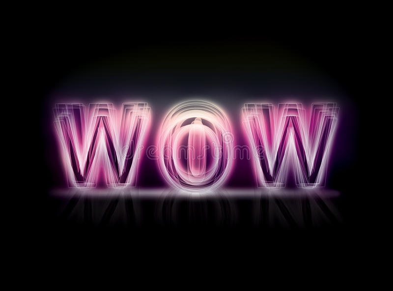 WOW. This is a WOW graphic that was created using Photoshop royalty free stock photos