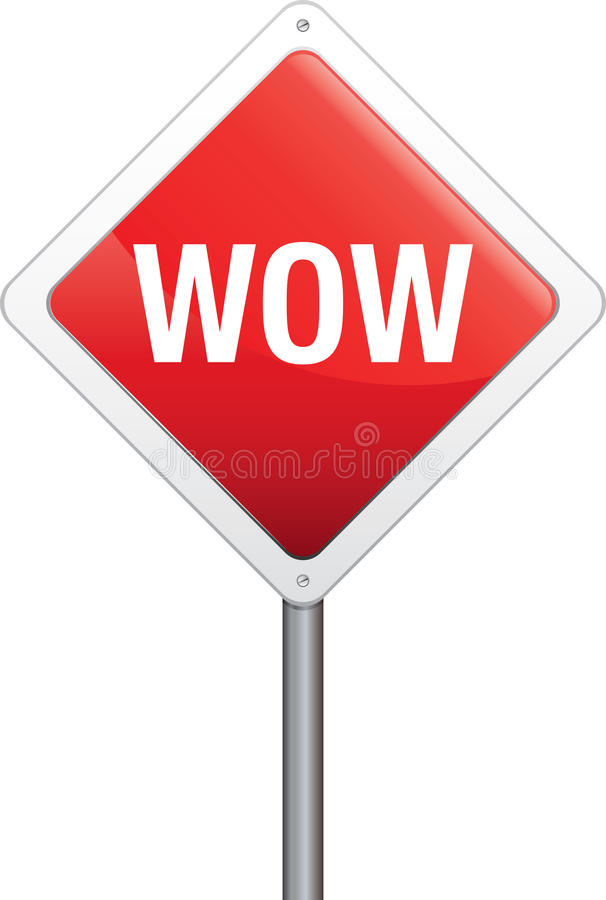 Wow Sign Royalty Free Stock Photos