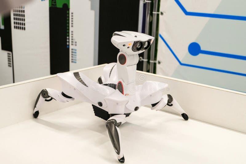 Wowwee Roboquad artropodo del tipo di giocattolo del robot-granchio con i movimenti unici immagine stock libera da diritti
