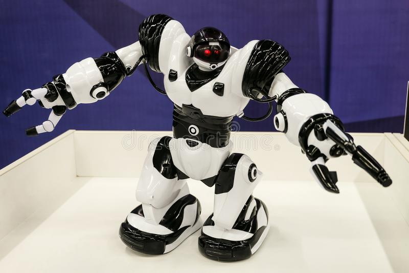 Wowwee Robosapian X 8006 Leksak-som den biomorphic roboten med konstgjord intelligens royaltyfria bilder