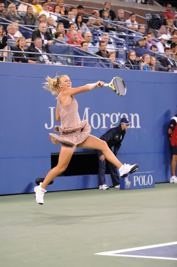 Wozniacki Caroline en los E.E.U.U. abre 2009 (27) fotografía de archivo