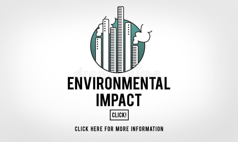 Wpływ Środowiskowy konserwaci ekologii pomocy pojęcie ilustracji