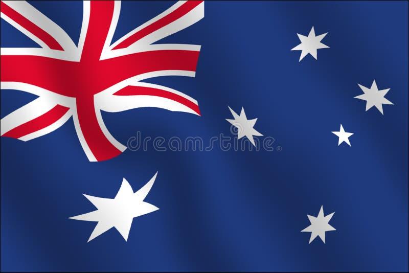 wpływ australijskiego flagi machał ilustracja wektor