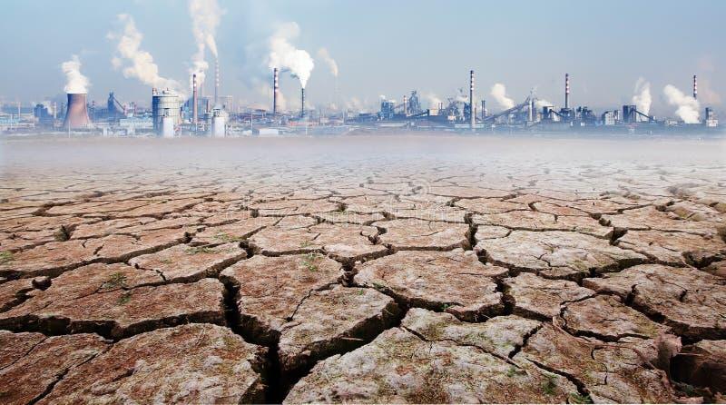 Wpływ rozwój przemysłu na środowisku obraz stock