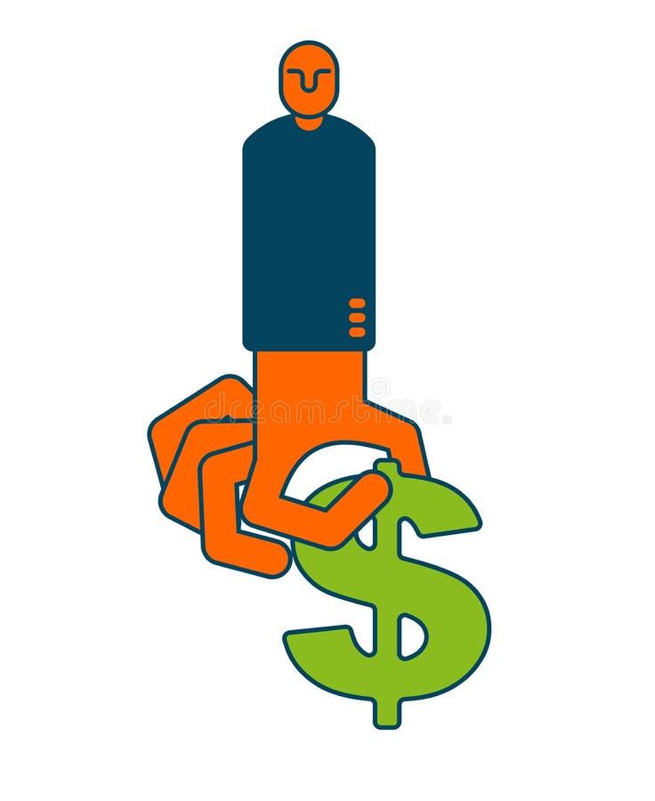 Wp8lywy zysku pieniądze Ręka i dolar atm karty gotówki ręka target1729_0_ plastikowej s wycofania kobiety Korzyść autobus ilustracja wektor