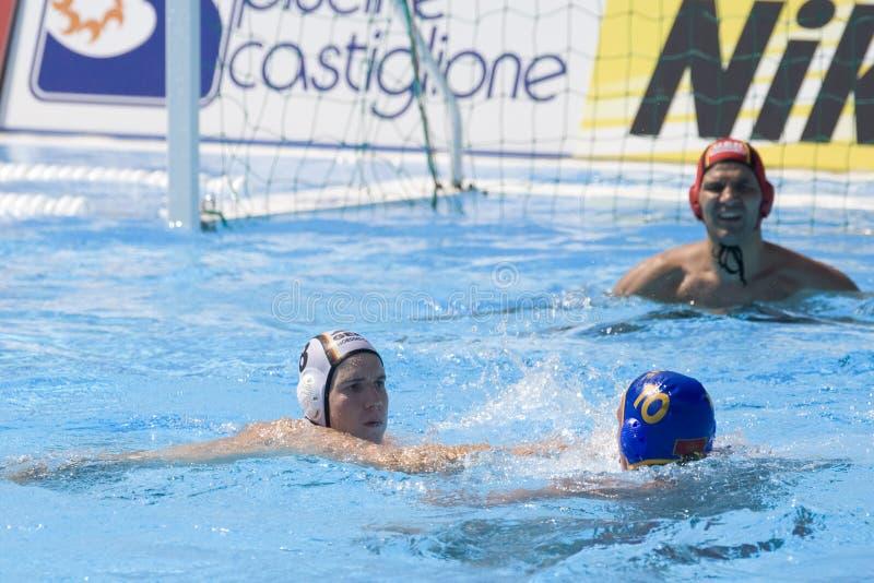 WPO: Чемпионат Aquatics мира - Германия против Черногории стоковые фотографии rf