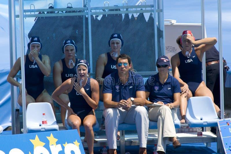 WPO: Campionato Cina di Aquatics del mondo contro U.S.A. fotografie stock