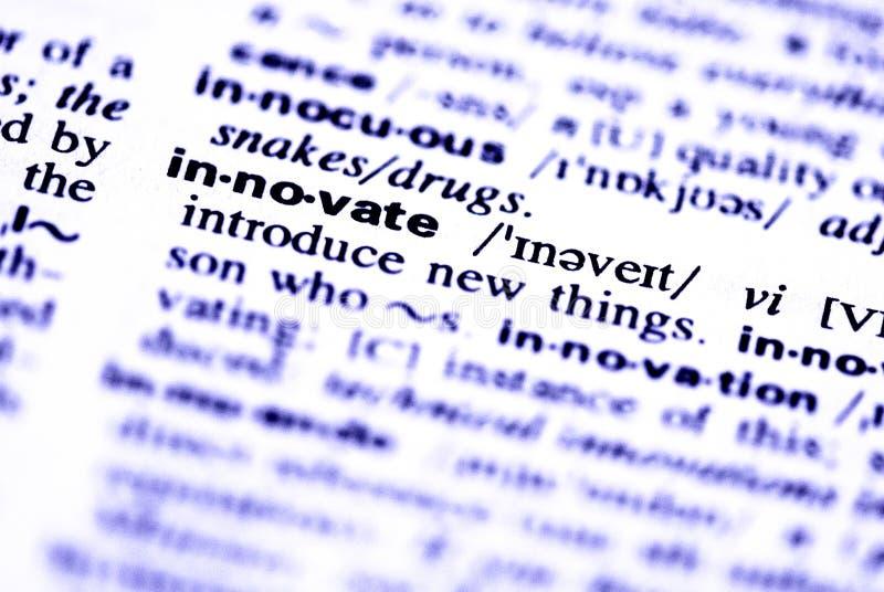 wprowadzać innowacje słowo zdjęcie royalty free