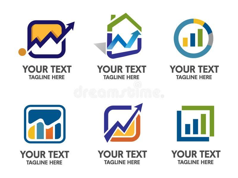 Wprowadzać na rynek i finansowy loga wektor ilustracji
