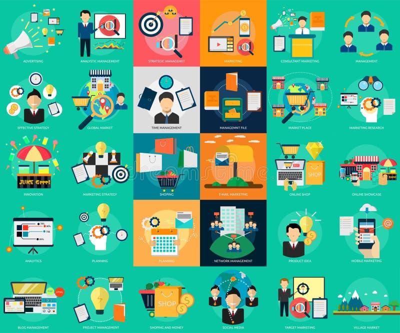 Wprowadzać na rynek i zarządzanie ilustracja wektor