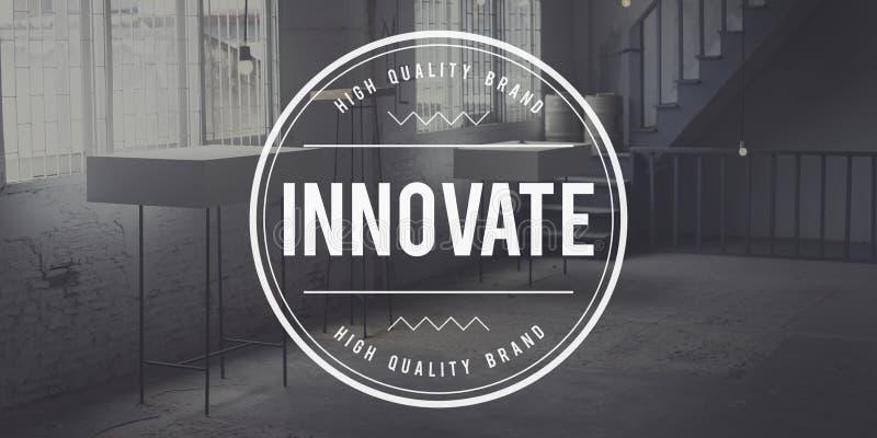 Wprowadza innowacje innowaci technologii rozwoju dążenia pojęcie obraz royalty free