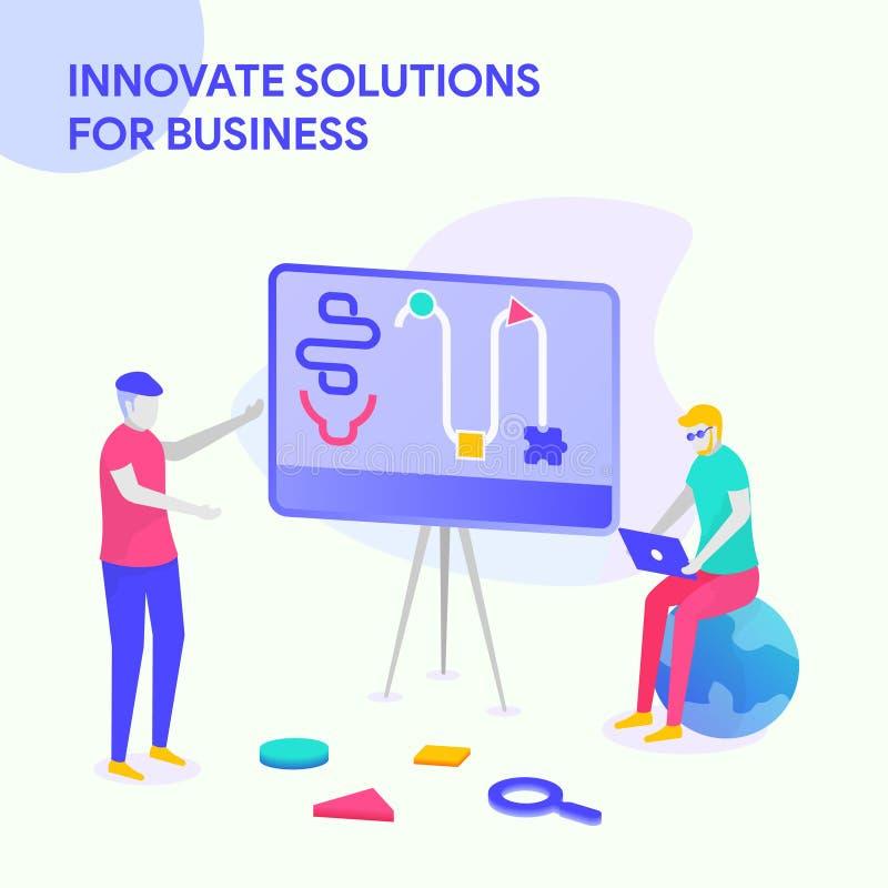 WPROWADZA INNOWACJE rozwiązania DLA biznesu ilustracji
