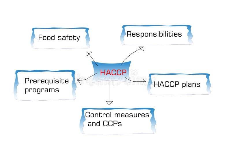 Wprowadzenie HACCP standard, haccp jest zagrożenie analizy krytycznym kontrolnym punktem ilustracja wektor