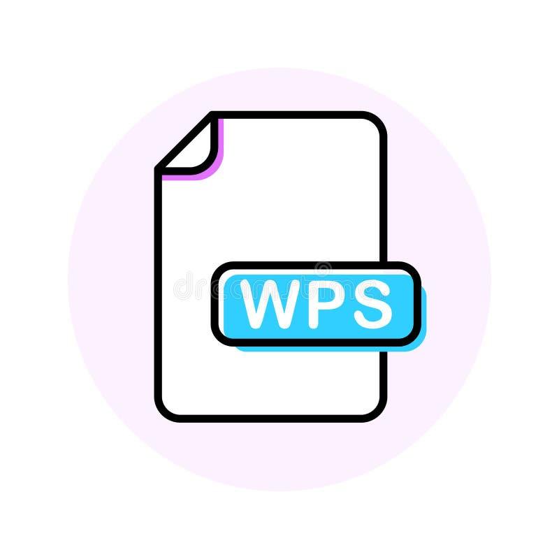 WPS kartoteki format, rozszerzenie koloru linii ikona royalty ilustracja