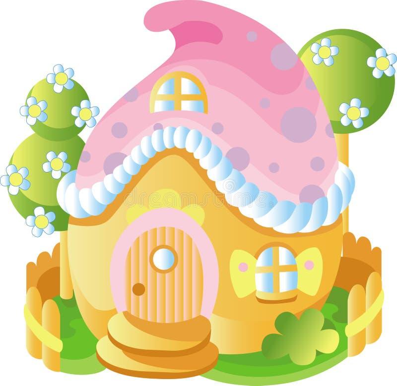 wróżka dom royalty ilustracja