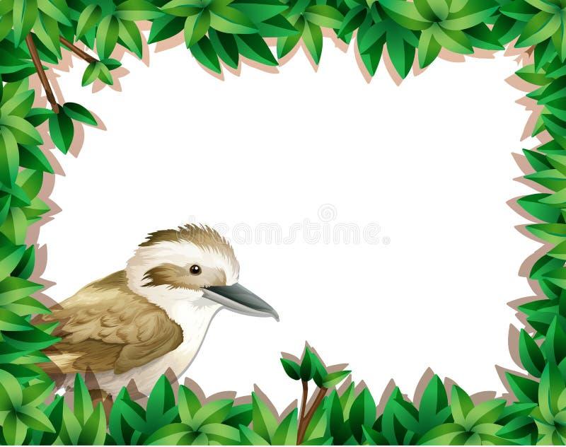 Wróbel na natura szablonie ilustracji