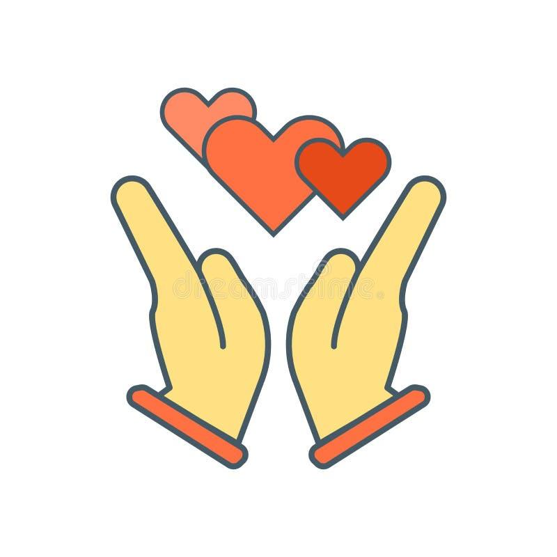 Wręcza ikona wektor odizolowywającego na białym tle, ręka znak ilustracja wektor