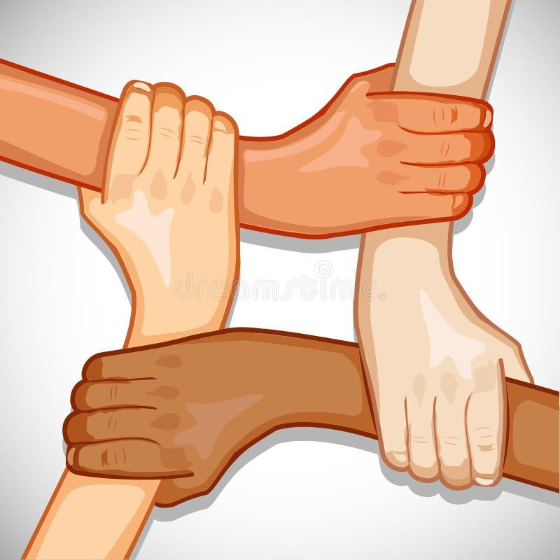 wręcza jedność royalty ilustracja