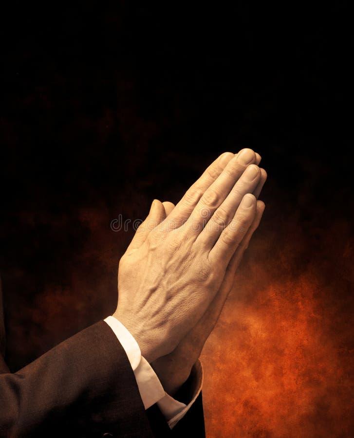 wręcza modlitwę obraz royalty free