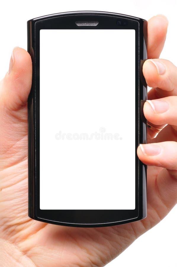 wręcza nowożytnego telefon obrazy royalty free