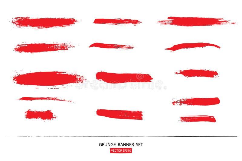 wręcza patroszonego malującego porysowanego ilustracja szablon Grunge Halloweenowy tło z krwionośnym splats sztandarów abstrac ilustracji