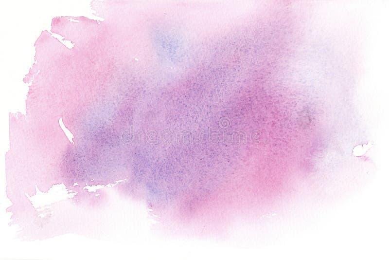 Wręcza patroszonej kolorowej akwareli abstrakcjonistycznego tło z plamami royalty ilustracja