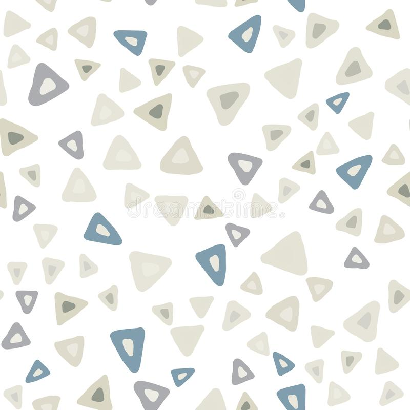 Wręcza patroszonemu prostemu trójbokowi bezszwowego wzór na białym tle ilustracja wektor