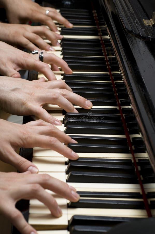 wręcza pianino sześć obrazy stock