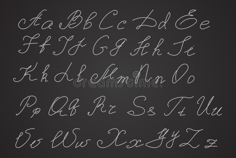 Wręcza pisać lub ręka rysujący listy, pismo listy royalty ilustracja