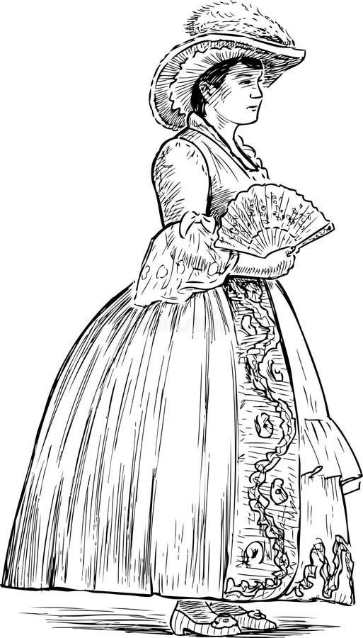 DAMA rysunek ilustracji. Ilustracja złożonej z natura - 151424683