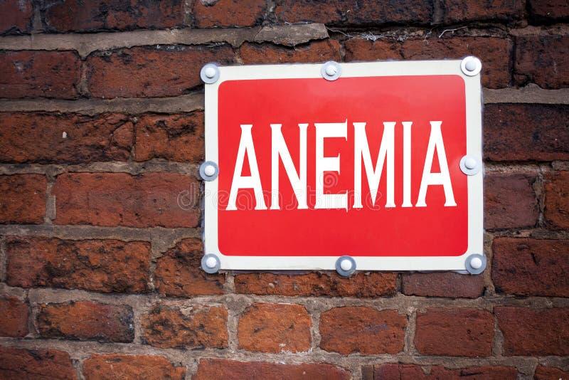 Wręcza writing teksta podpisu inspirację pokazuje anemii pojęcie znaczy Medyczną diagnozę Żelaznego niedostatku aplastic pisać na obraz stock