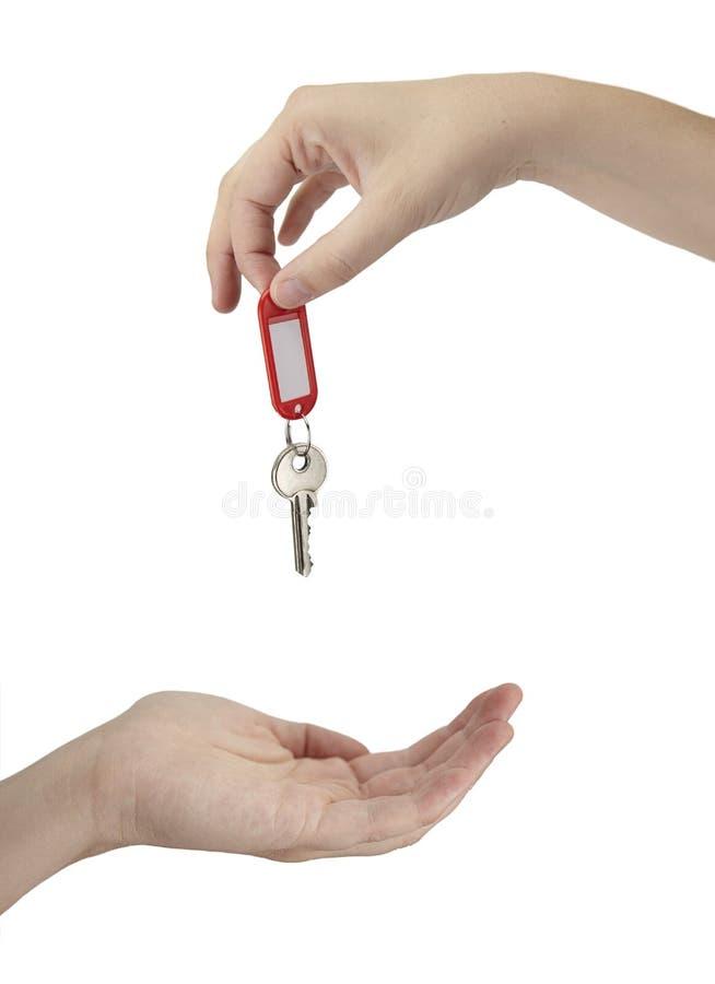 wręczający klucz zdjęcie stock