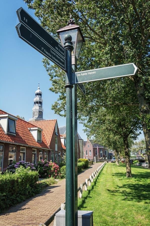 Wrażenie Fryzyjska wioska Hindeloopen w holandiach zdjęcia stock