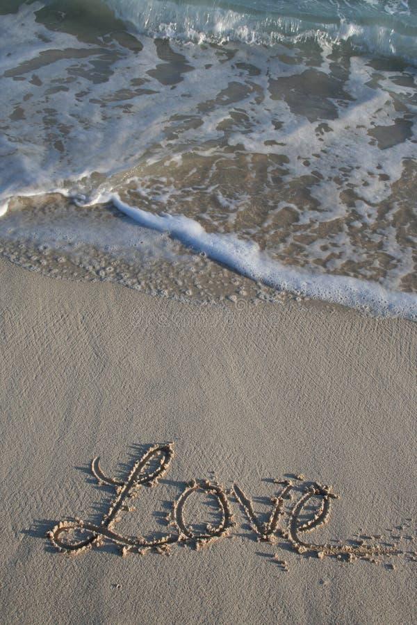 wrażenie plażowa miłość zdjęcia stock